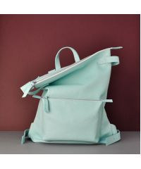 Кожаный рюказк Voyager Aqua голубой