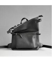 Кожаный рюкзак Voyager Black Elephant черный