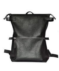 Кожаный рюкзак Voyager Black черный