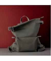 Кожаный рюкзак Voyager Dark Grey серый