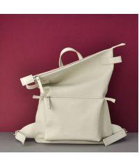 Кожаный рюкзак Voyager Milk молочный