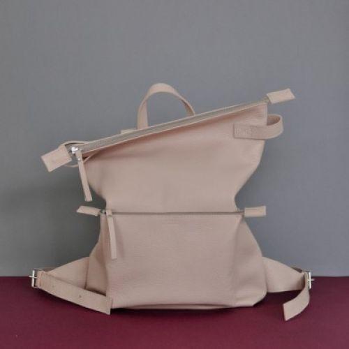 Кожаный рюкзак Voyager Nude бежевый