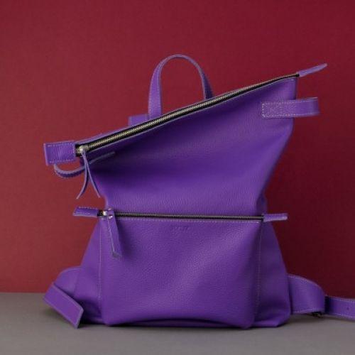 Кожаный рюкзак Voyager Purple фиолетовый