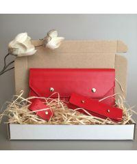 Подарочный набор Klasni Monarda красный N-1-R