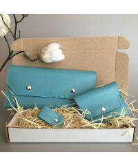 Подарочный набор Klasni Monarda голубой N-7-Blu