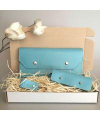 Подарочный набор Klasni Monarda голубой N-1-Blu