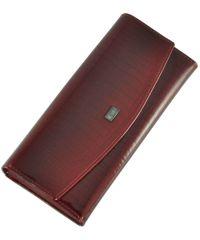 Женский кожаный кошелек 2447-44 Crocodile красный