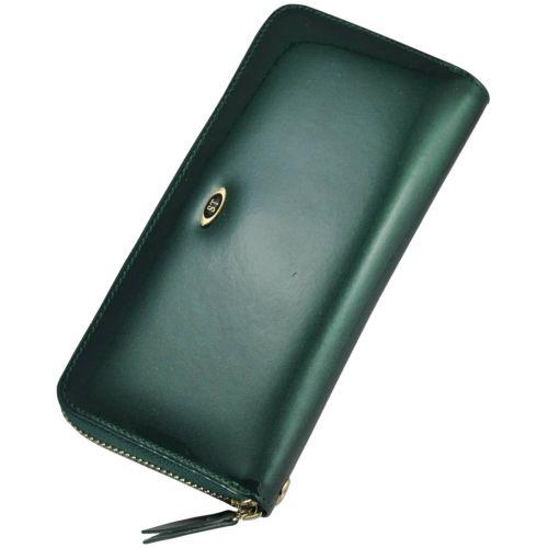 Кожаный кошелек BC38 зеленый
