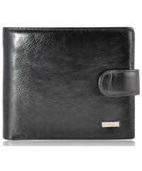 Мужской кожаный кошелек 9705 черный