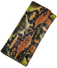 Женский кожаный кошелек 2491-D78 питон зеленый
