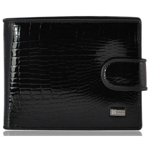 Мужской кожаный кошелек 7104 черный