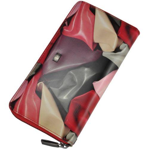 Женский кожаный кошелек 2548-C91 платки розовый