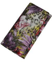 Женский кожаный кошелек 2030-D81 джунгли фиолетовый