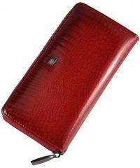 Женский кожаный кошелек 2480-44 Crocodile красный