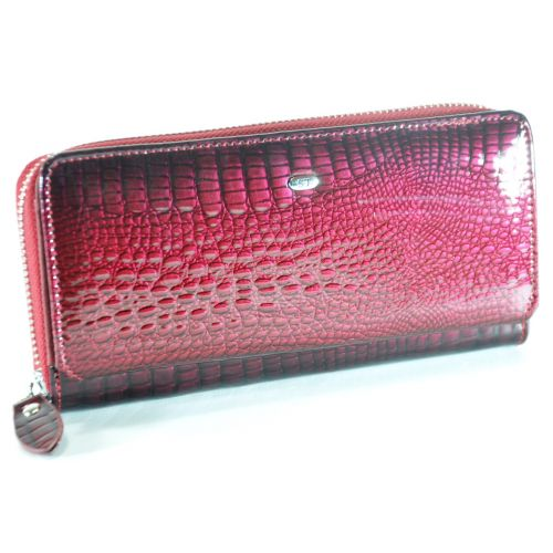 Кожаный кошелек AE202 бордовый