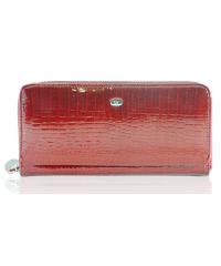 Кожаный кошелек AE202 красный