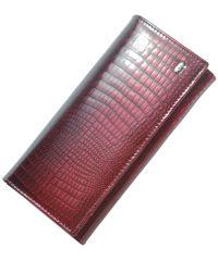 Кожаный кошелек AE501 бордовый