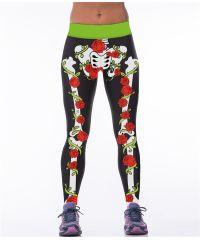 Леггинсы с принтом EX3300 скелет в цветах