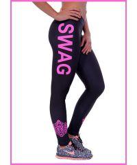 Спортивные лосины SL1691 розовая надпись Swag