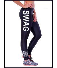 Спортивные лосины SL1991 белая надпись Swag