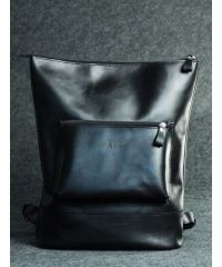 Кожаный рюкзак Кадр черный кайзер