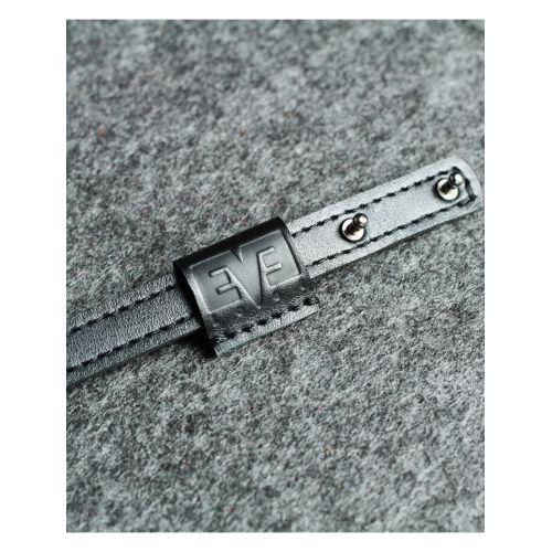 Кожаный ремешок на кобурних застежках 1,5 см серый кайзер