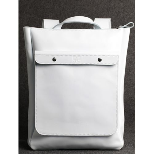 Кожаный рюкзак Хам белый кайзер