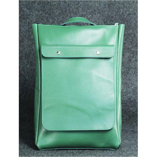 Кожаный рюкзак Хам зеленый кайзер