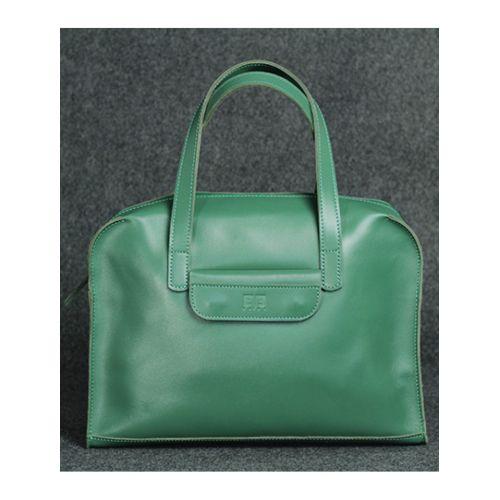 Кожаная сумка Такси зеленая кайзер
