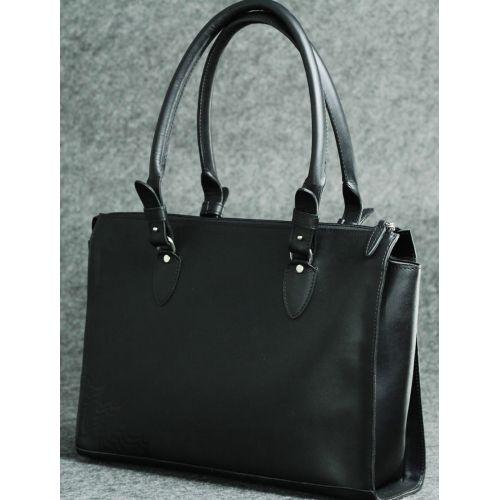 Кожаная сумка Трина М черная кайзер