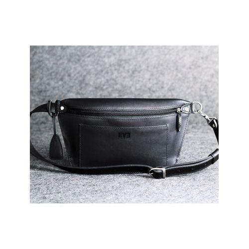 Кожаная сумка Лодочка Up черная кайзер