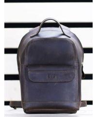 Кожаный рюкзак Куки коричневый крейзи хорс