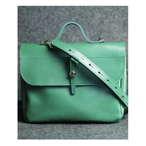 Кожаная сумка Лира зеленая кайзер