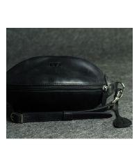 Кожаная сумка Кофе черная кайзер