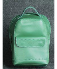Кожаный рюкзак Куки зеленый кайзер
