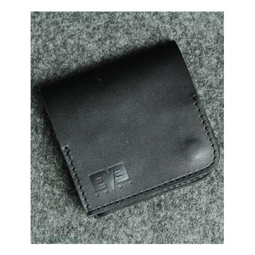 Кожаный кошелек Левый черный кайзер