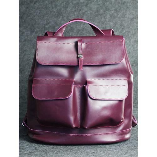 Кожаный рюкзак Боббер виноградный кайзер