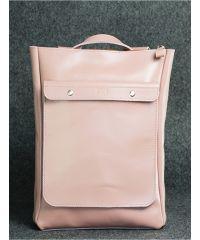Кожаный рюкзак Хам розовый кайзер
