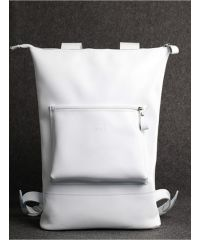Кожаный рюкзак Кадр белый кайзер