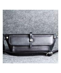 Кожаная мини-сумка Стандарт Up черная кайзер