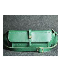 Кожаная сумка Стандарт зеленая кайзер