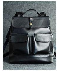Кожаный рюкзак Боббер черный кайзер