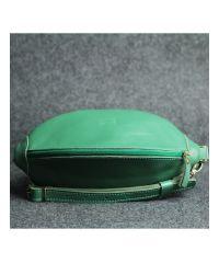 Кожаная сумка Кофе зеленая кайзер
