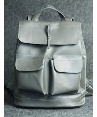 Кожаный рюкзак Боббер серый кайзер