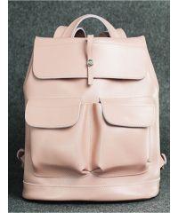 Кожаный рюкзак Боббер розовый кайзер