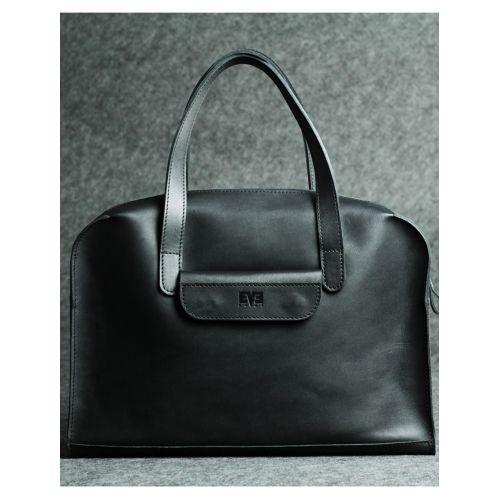 Кожаная сумка Такси черная кайзер