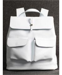 Кожаный рюкзак Боббер белый кайзер