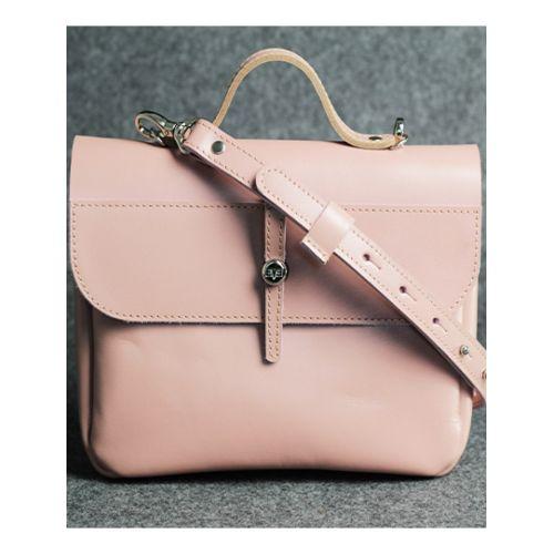 Кожаная сумка Лира розовая кайзер