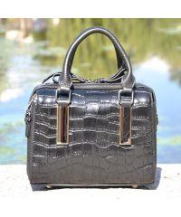 Кожаная сумка 1408 черная
