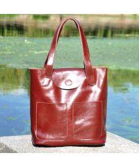 Кожаная сумка 8507 коричневая
